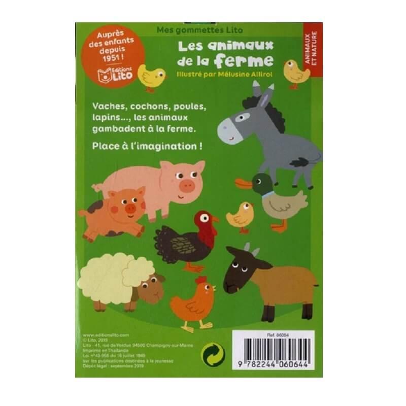 Gommettes animaux de la ferme pour enfants