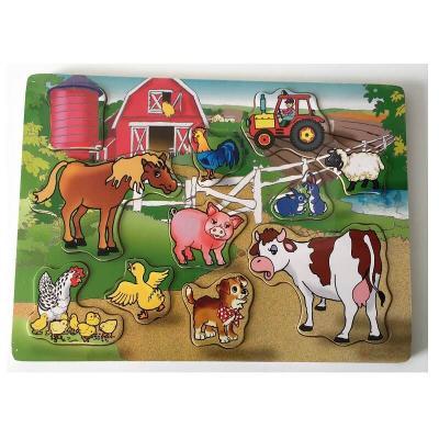 Grand puzzle en bois - Les animaux de la ferme