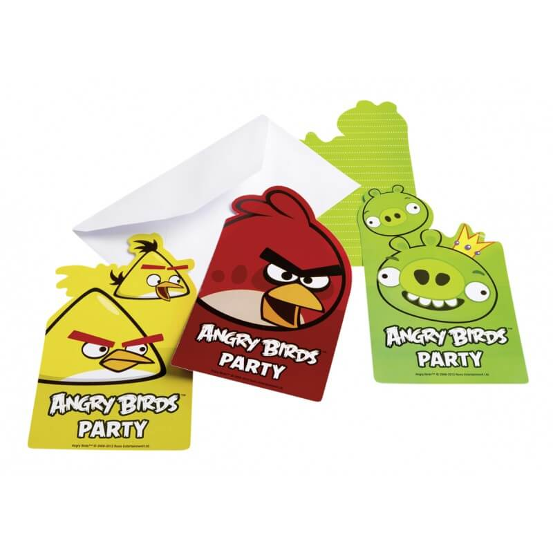 Invitations anniversaire enfant angry birds 2