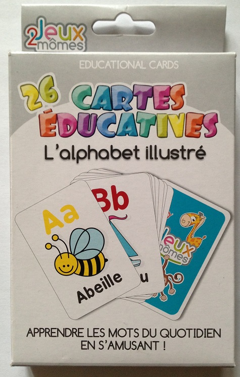 Jeu cartes alphabet illustre