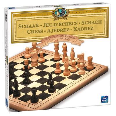 Jeu d'échecs en bois King