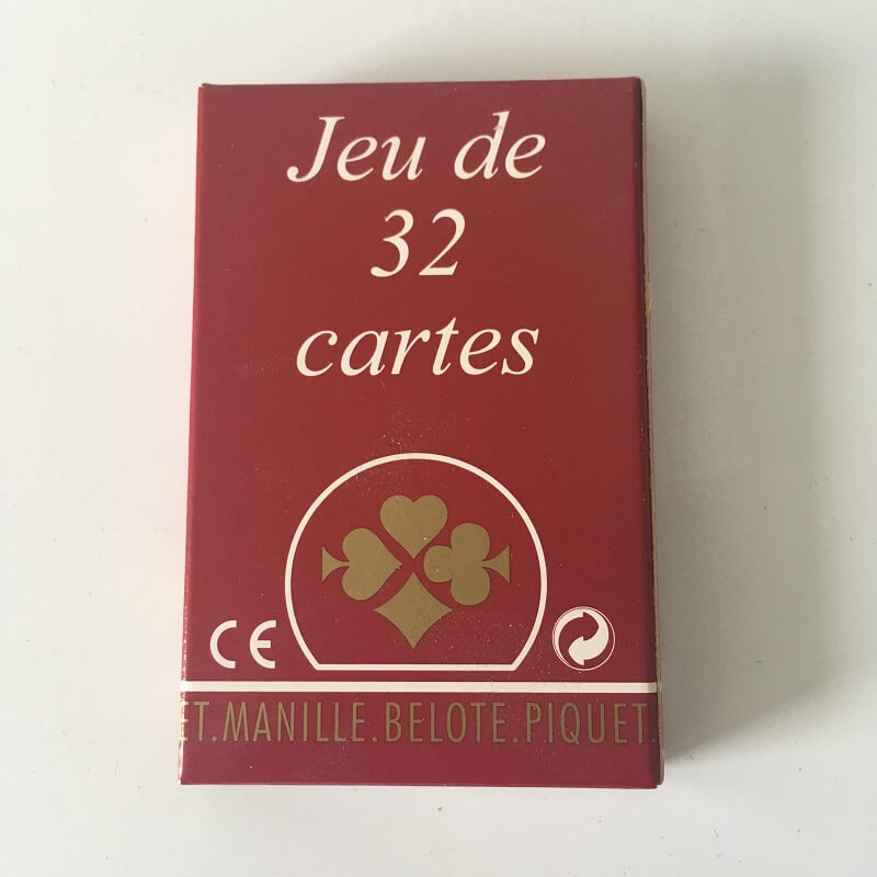 Jeu de 32 cartes belote france cartes