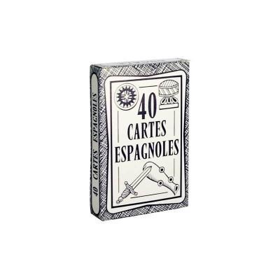 Jeu de 40 cartes espagnoles Ducale fabriqué en France.
