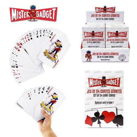 Jeu de 54 cartes geantes mister gadget