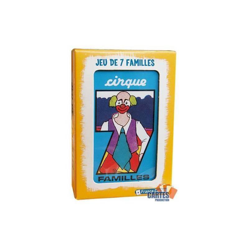 Jeu de 7 familles cirque france cartes