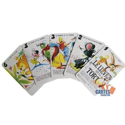 Jeu de 7 familles fables de la fontaine jeu de cartes enfant
