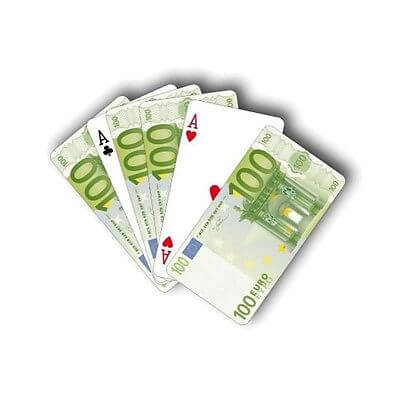 Jeu de cartes euros idee cadeau originale mister gadget