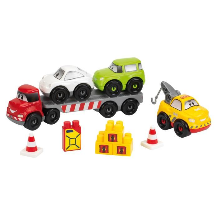 Jeu de construction enfant abrick transport de vehicules details