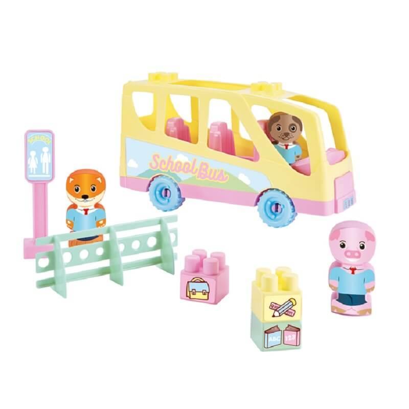 Jeu de construction le bus scolaire twee pop