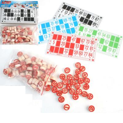 Jeu de Loto en bois et 48 cartes pour jouer en famille et avec les amis