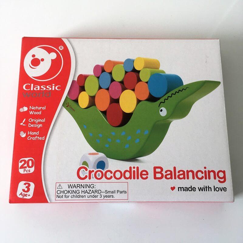 Jeu enfant en bois jeu de societe le crocodile inverse a bascule