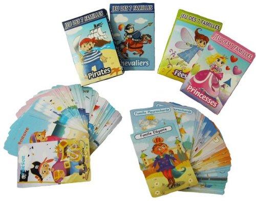 Jeux de 7 familles princesses fees pirates ou chavaliers