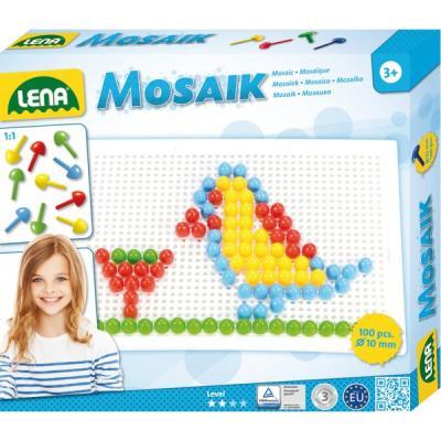 Création de mosaïques Lena avec 100 picots pour enfant dés 3 ans.