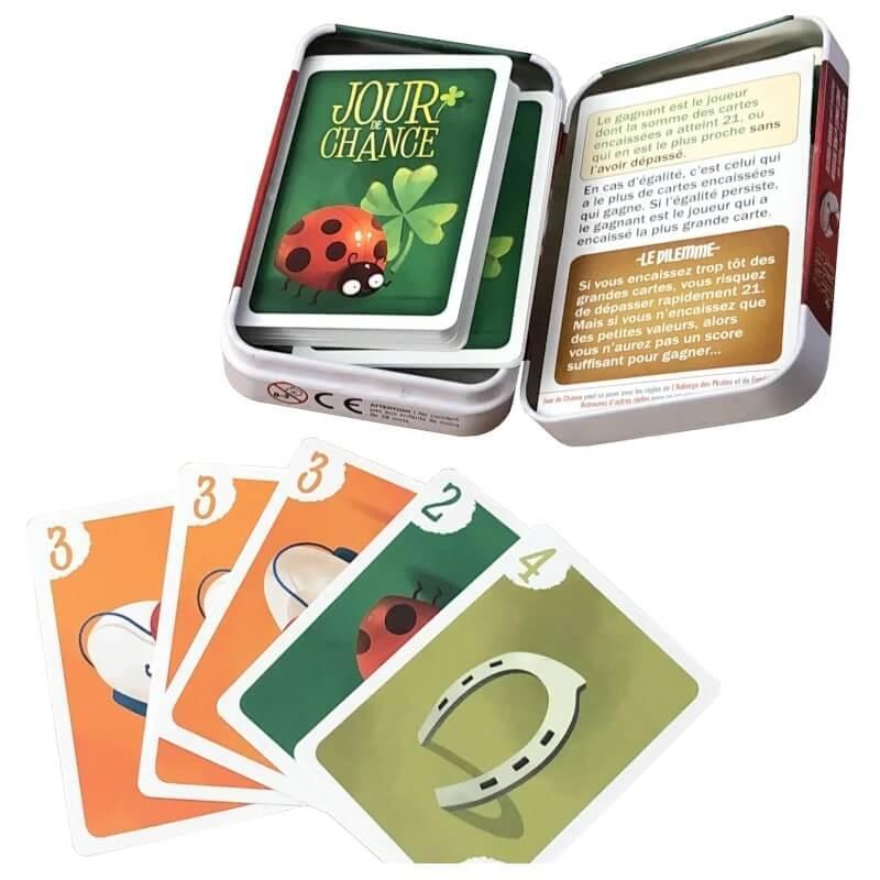 Jour de chance le jeu de cartes pour enfants et grands