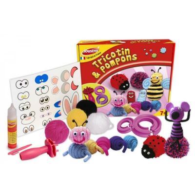 Joustra tricotin et pompons loisirs creatifs enfant