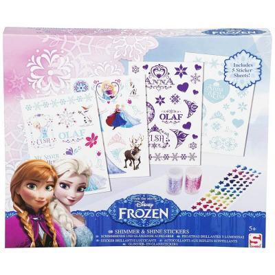 Kit de Stickers la reine des neiges et paillettes