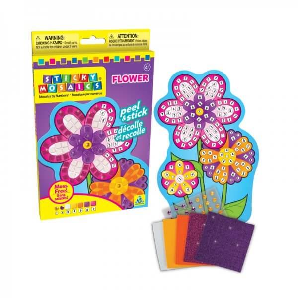 Kit enfant creation mosaique fleur