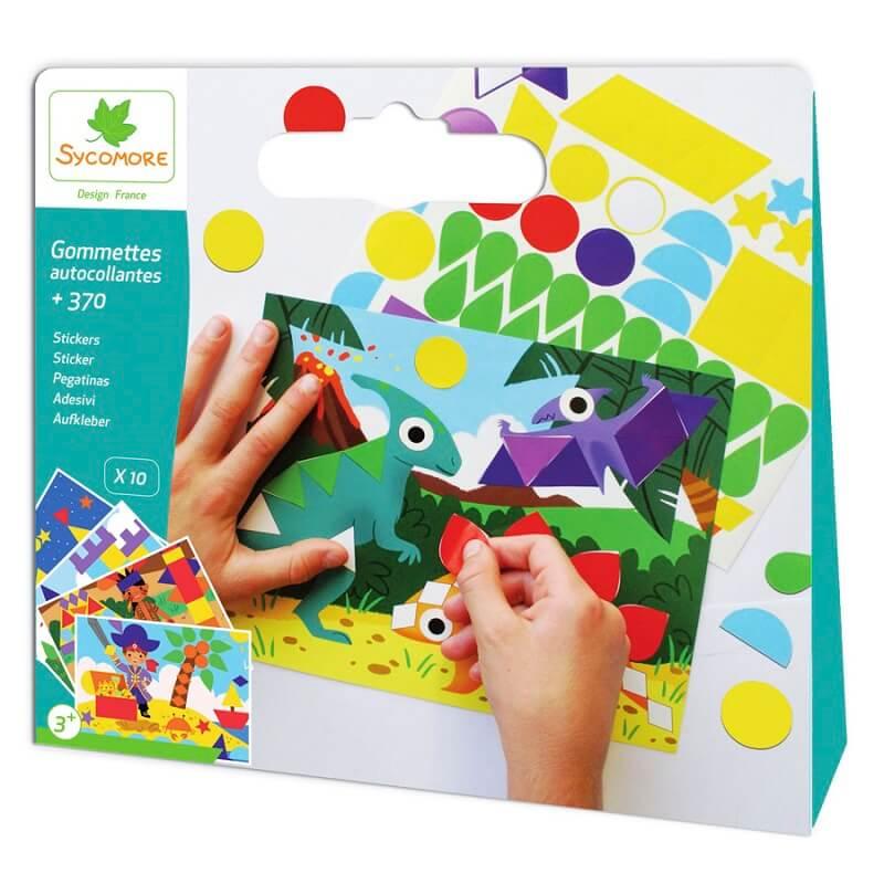Kit gommettes autocollantes loisirs creatifs enfant