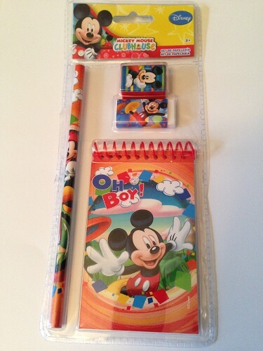 Kit papeterie disney mickey a 2 90 euros