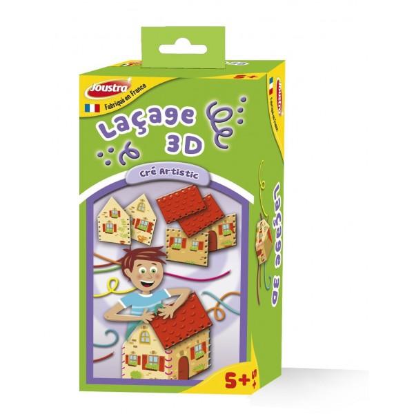 Lacage 3d creer maison loisirs creatif enfant joustra