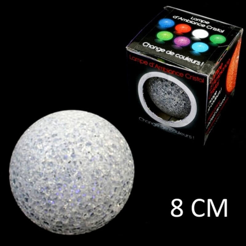 Lampe boule led 8 cm couleur changeante