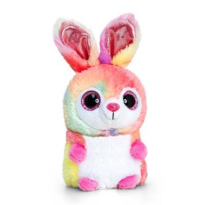 Peluche lapin multi-couleurs aux gros yeux Mini Motsu Keel Toys