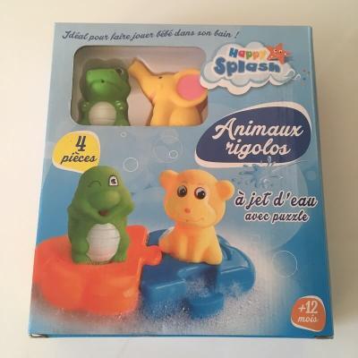 Animaux à jet d'eau rigolos pour le bain version éléphant et grenouille