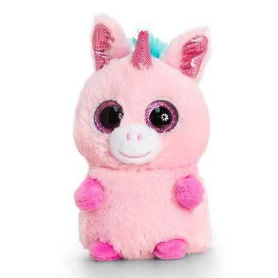 Peluche licorne rose aux gros yeux Mini Motsu Keel Toys