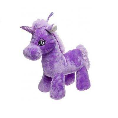 Licorne peluche violette