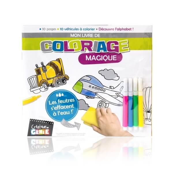 Livre de coloriage magique transport