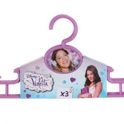 Cintres Violetta enfant par lot de 3