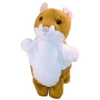 Peluche marionnette hamster