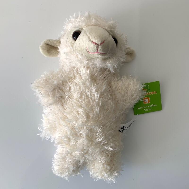 Marionnette mouton peluche enfant