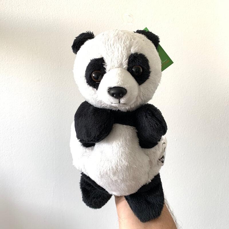 Marionnette panda peluche enfant