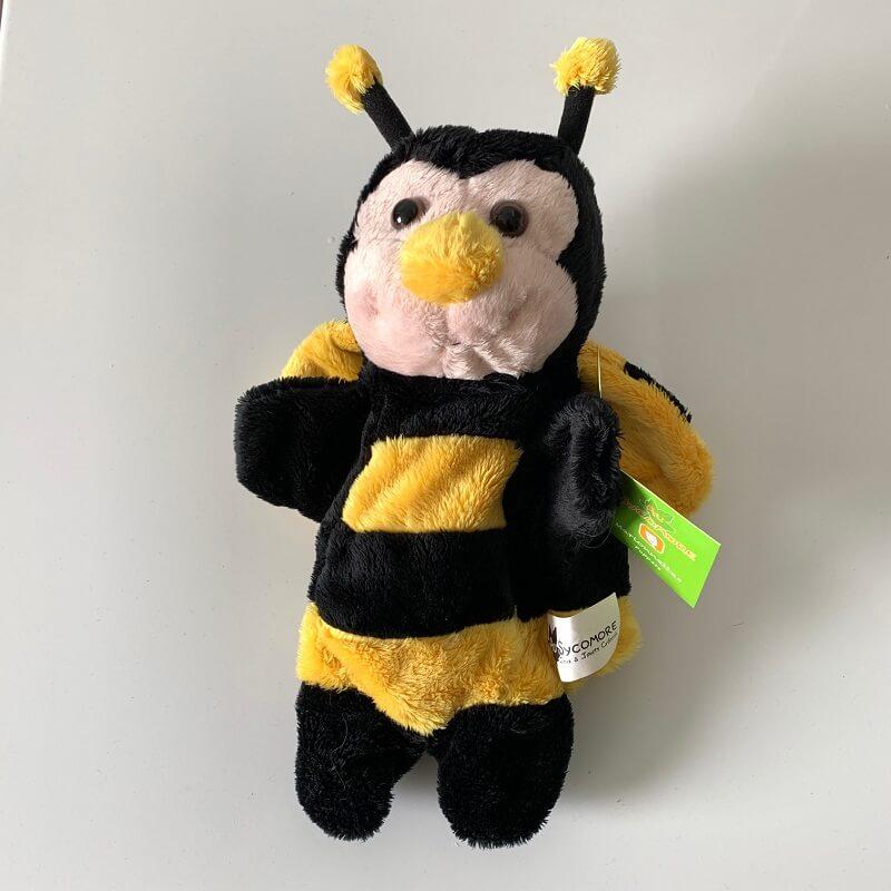 Marionnette peluche abeille