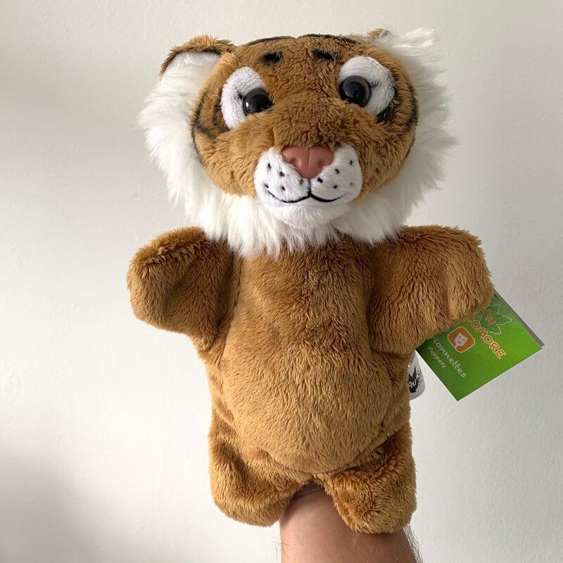 Marionnette peluche tigre