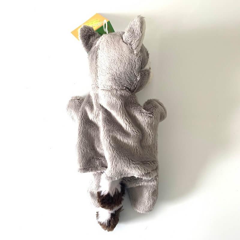 Marionnette raton laveur peluche enfant