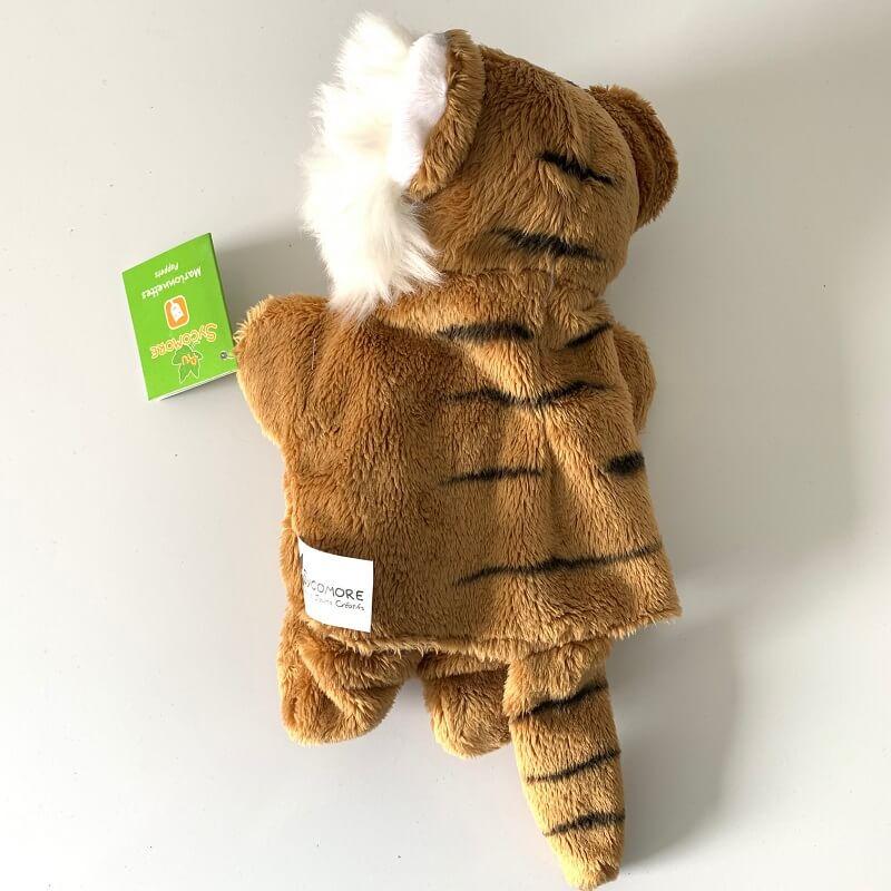 Marionnette tigre peluche enfant