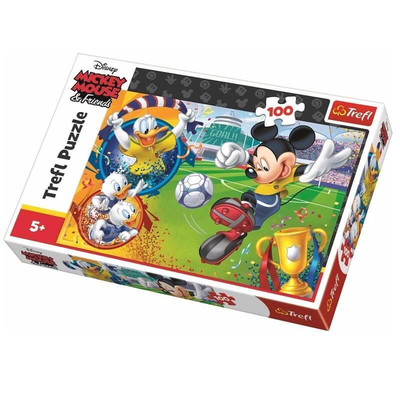 Mickey footballeur puzzle disney 100 pieces