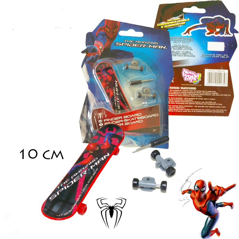 Mini skate board finger spiderman enfant