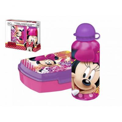 Boite à goûter et gourde en aluminium Minnie Disney