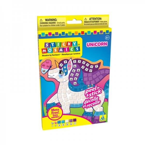 Mosaique licorne par numeros activite manuelle enfant facile