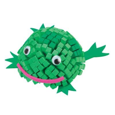 Kit mosaïque enfant : Grenouille 3D à créer