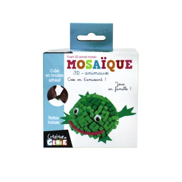 Mosaique mousse 3d animaux grenouille