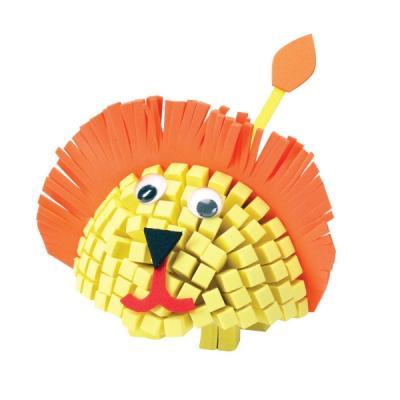 Kit mosaïque enfant : Lion en 3D à créer