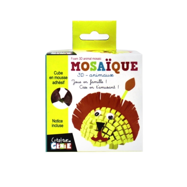 Mosaique mousse 3d animaux lion