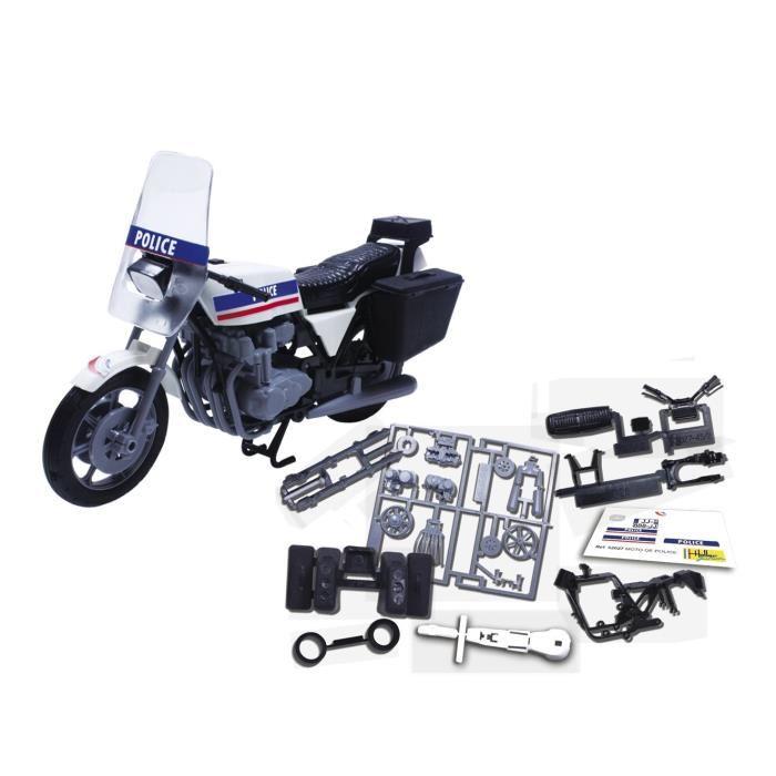 Moto de police maquette joustra details