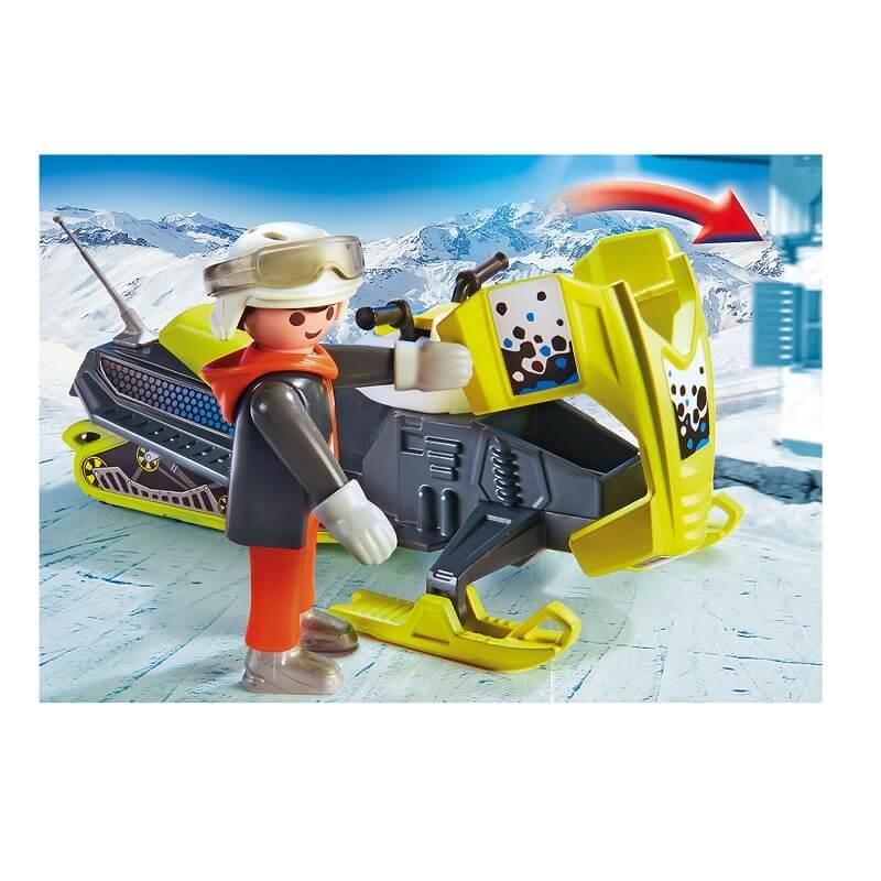 Motoneige et personnage playmobil