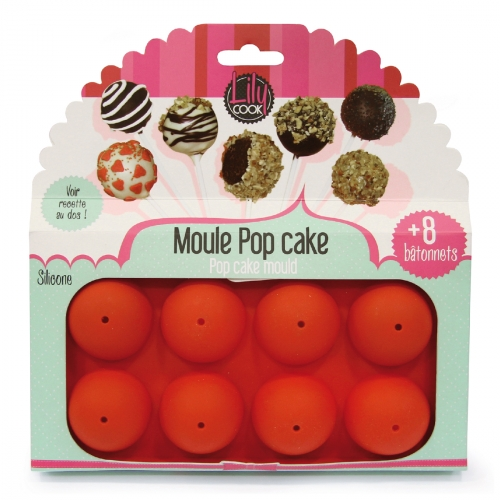 Moule pop cake 8 silicone lily rouge