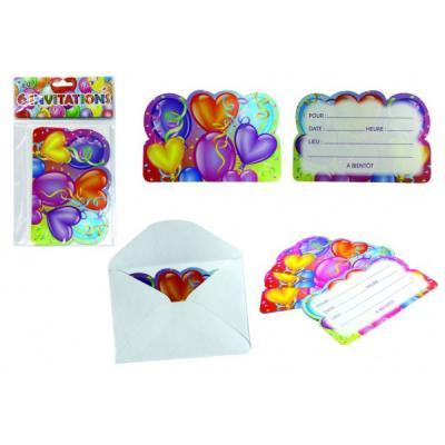 Cartes d'invitation pour un anniversaire - Nombre : 1 pack